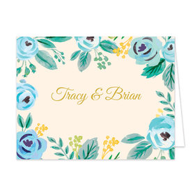 Bonnie Marcus Collection Watercolor Blue Blossoms Thank You