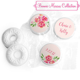 Bonnie Marcus Collection Personalized Pink Flowers Wedding Life Savers Mints