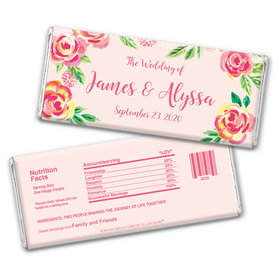 Bonnie Marcus Collection Personalized Chocolate Bar Wrappers In the Pink Wedding Favors by Bonnie Marcus