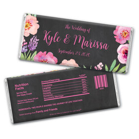 Personalized Bonnie Marcus Floral Embrace Chocolate Bar Wrappers Only