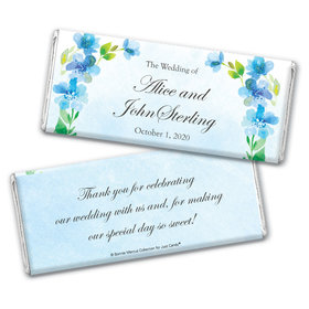 Personalized Bonnie Marcus Wedding Flower Arch Chocolate Bar Wrappers Only