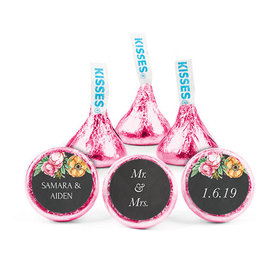 Personalized Bonnie Marcus Wedding Chalkboard Flowers Hershey's Kisses (50 pack)