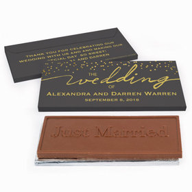 Deluxe Personalized Wedding Divine Gold Chocolate Bar in Gift Box