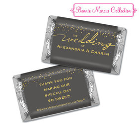 Personalized Bonnie Marcus Wedding Divine Gold Hershey's Miniatures