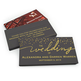 Deluxe Personalized Wedding Divine Gold Chocolate Parve Bar in Gift Box (3.5oz Bar)
