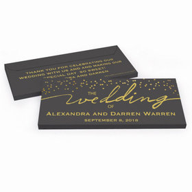 Deluxe Personalized Wedding Divine Gold Hershey's Chocolate Bar in Gift Box