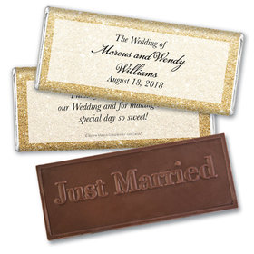 Personalized Bonnie Marcus Wedding All That Glitters Embossed Chocolate Bar & Wrapper