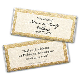 Personalized Bonnie Marcus Wedding All That Glitters Chocolate Bar & Wrapper