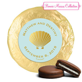 Personalized Bonnie Marcus Wedding Siren's Shell Milk Chocolate Covered Oreos