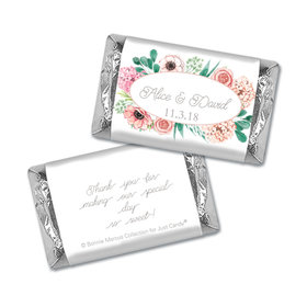 Personalized Bonnie Marcus Bridal Shower Blossom Bliss Mini Wrappers Only