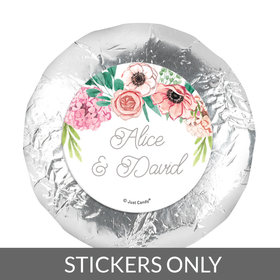 "Personalized Wedding Reception Blossom Bliss 1.25"" Stickers (48 Stickers)"