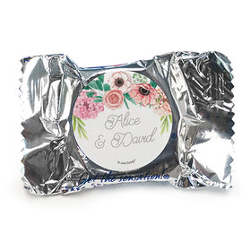 Personalized Wedding Reception Blossom Bliss York Peppermint Patties