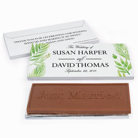 Deluxe Personalized Wedding Wild Plants Chocolate Bar in Gift Box