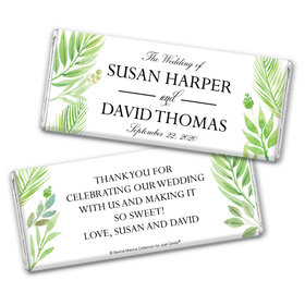 Personalized Bonnie Marcus Wedding Wild Plants Chocolate Bar & Wrapper