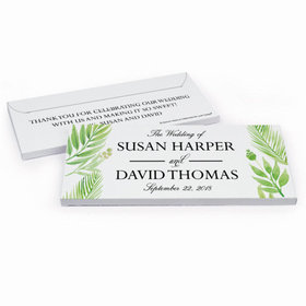 Deluxe Personalized Wedding Wild Plants Hershey's Chocolate Bar in Gift Box