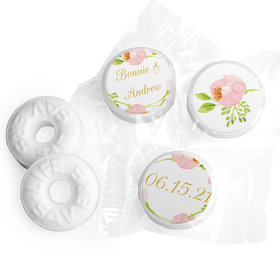 Personalized Bonnie Marcus Wedding Botanical Wreath Life Savers Mints