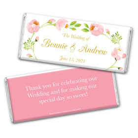 Personalized Bonnie Marcus Wedding Botanical Wreath Chocolate Bar & Wrapper