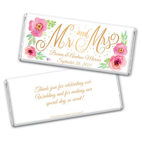 Personalized Bonnie Marcus Wedding Mr. & Mrs. Chocolate Bar Wrappers