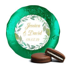 Personalized Wedding Forever Foliage Chocolate Covered Oreos (24 Pack)