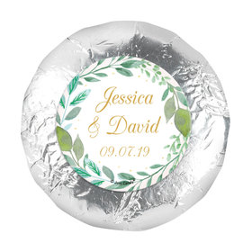 """Personalized Wedding Forever Foliage 1.25"""" Stickers (48 Stickers)"""