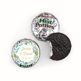 Personalized Wedding Forever Foliage Pearson's Mint Patties