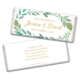 Personalized Bonnie Marcus Wedding Forever Foliage Chocolate Bar Wrappers