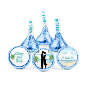 Personalized Wedding Tropical I Do Hershey's Kisses (50 pack)