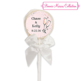 Bonnie Marcus Collection Personalized Lollipop The Bubbly Custom Wedding Favor (24 Pack)