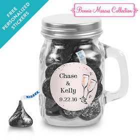 Bonnie Marcus Collection Personalized Mini Mason Jar The Bubbly Custom Wedding Favor (12 Pack)