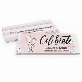 Deluxe Personalized Wedding Bubbly Hershey's Chocolate Bar in Gift Box