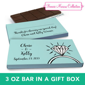 Deluxe Personalized Wedding Last Fling Chocolate Bar in Gift Box (3oz Bar)