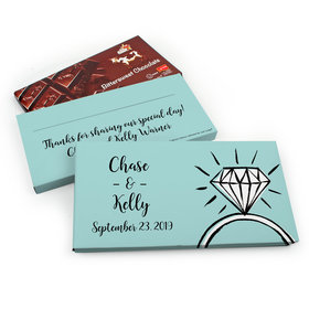 Deluxe Personalized Wedding Last Fling Chocolate Parve Bar in Gift Box (3.5oz Bar)