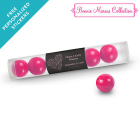 Bonnie Marcus Collection Personalized Gumball Tube Sweetheart Swirl Wedding Favor