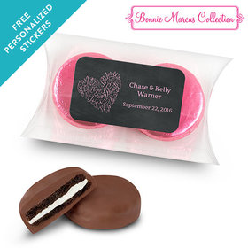 Bonnie Marcus Collection Personalized Pillow Box Sweetheart Swirl Wedding Favor