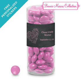 Bonnie Marcus Collection Personalized Clear Tube Sweetheart Swirl Wedding Favor
