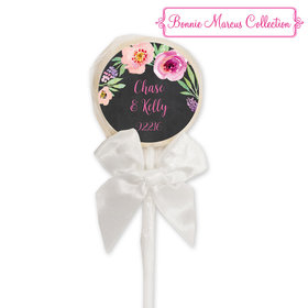 Bonnie Marcus Collection Personalized White Lollipop Together Forever Custom Wedding Favor (24 Pack)