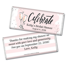 Bonnie Marcus Collection Personalized Chocolate Bar Chocolate and Wrapper with Gold Foil The Bubbly Custom Bridal Shower