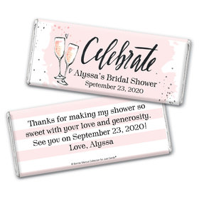 Bonnie Marcus Collection Personalized Chocolate Bar Wrappers Chocolate and Wrapper The Bubbly Custom Bridal Shower
