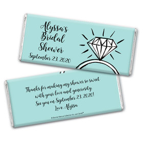 Bonnie Marcus Collection Personalized Chocolate Bar Wrappers Chocolate and Wrapper Last Fling Bridal Shower Favors