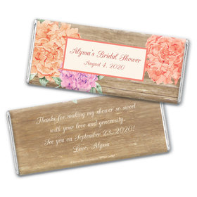 Bonnie Marcus Collection Personalized Chocolate Bar Wrappers Chocolate and Wrapper Blooming Joy Bridal Shower Favor