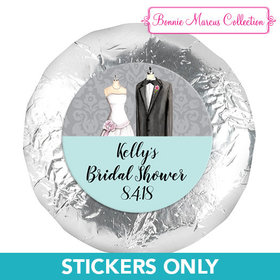 """Bonnie Marcus Collection Bridal Shower Forever Together 1.25"""" Stickers (48 Stickers)"""