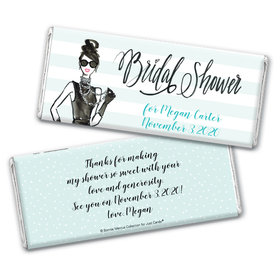 Bonnie Marcus Collection Personalized Chocolate Bar Wrappers Bridal Shower Showered in Vogue Personalized