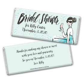 Bonnie Marcus Collection Personalized Chocolate Bar Wrappers Bridal Shower Sunny Soiree Personalized