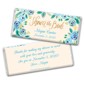Bonnie Marcus Collection Personalized Chocolate Bar Wrappers Bridal Shower Here's Something Blue Personalized