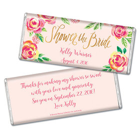 Bonnie Marcus Collection Personalized Chocolate Bar Bridal Shower In the Pink Personalized