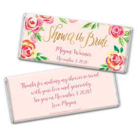 Bonnie Marcus Collection Personalized Chocolate Bar Wrappers Bridal Shower In the Pink Personalized