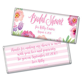 Bonnie Marcus Collection Personalized Chocolate Bar Bridal Shower Floral Embrace Personalized