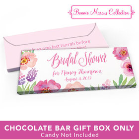 Deluxe Personalized Bridal Shower Floral Embrace Candy Bar Favor Box