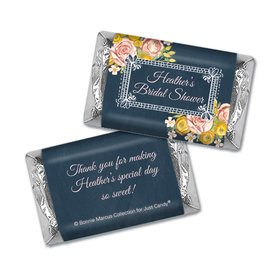 Personalized Bonnie Marcus Bridal Shower Chalkboard Flowers Hershey's Miniatures