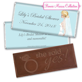 Personalized Bonnie Marcus Bride to Be Chocolate Bar & Wrapper